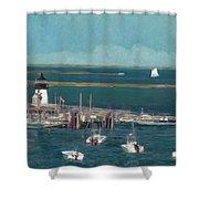 Nantucket Harbor Shower Curtain