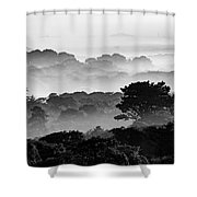 Nantucket Middle Moors In Fog Shower Curtain