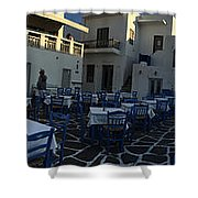 Naoussa Village Paros Greece Shower Curtain