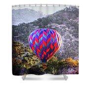Napa Valley Morning Balloon Shower Curtain