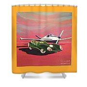 Napa Valley Lotus And Bonanza Beechcraft Shower Curtain