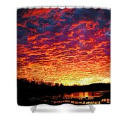 Napalm Clouds Shower Curtain