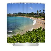 Napili Bay With Visitors Shower Curtain