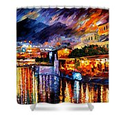 Naples - Vesuvius Shower Curtain