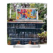 Naples Botanical Waterfall - Refreshing Garden Shower Curtain