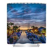 Naples Canal Christmas 6 Shower Curtain