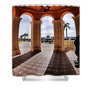 Naples Florida X Shower Curtain