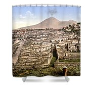Naples: Mt. Vesuvius Shower Curtain
