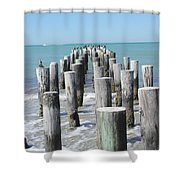 Naples Pier Shower Curtain