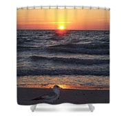 Naples Sunset 0042 Shower Curtain