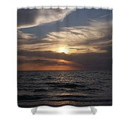 Naples Sunset 0043 Shower Curtain