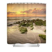 Naples Sunset Shower Curtain
