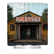 Naples Tin City - Open For Business Shower Curtain
