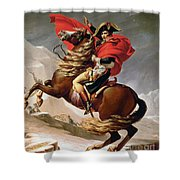Napoleon Crossing The Alps Shower Curtain by Jacques Louis David