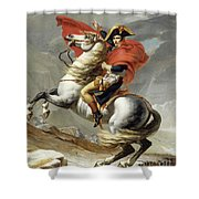Napoleon Crossing The Alps, Jacques Louis David, From The Original Version Of This Painting  Shower Curtain