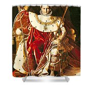 Napoleon I On The Imperial Throne Shower Curtain