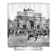 Napoleon Reviewing His Troops Shower Curtain