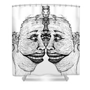 Narcissistic Shower Curtain