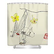 Narcissus  With Cricket Shower Curtain