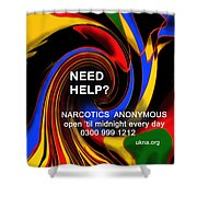 Narcotics Anonymous Poster Shower Curtain