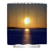 Narrow Bay V Shower Curtain