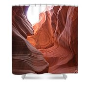 Narrow Canyon Xvii Shower Curtain