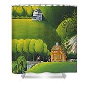 Narrow Foothills Shower Curtain