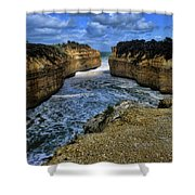 Narrow Inlet Shower Curtain