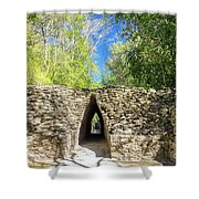 Narrow Passage In Becan, Mexico Shower Curtain