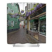 Narrow Street In Freiburg Shower Curtain