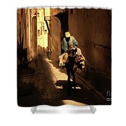 Narrow Streets Fes Male Donkey  Shower Curtain