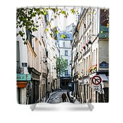 Narrow Streets Of The Latin Quarter In Paris, France Shower Curtain