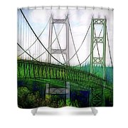 Narrows Bridge Abstract Shower Curtain