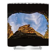 Narrows Sky Zion National Park Utah Shower Curtain
