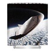 Nasa: Crew Return Vehicle Shower Curtain