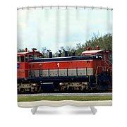 Nasa Space Shuttle Railroad Shower Curtain