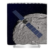 Nasas Dawn Spacecraft Orbiting Shower Curtain