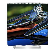 Nash Ambassador Hood Ornament  Shower Curtain