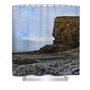Nash Point In Wales Shower Curtain