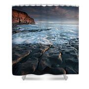 Nash Point South Wales Shower Curtain