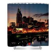 Nashville At Sunset Shower Curtain