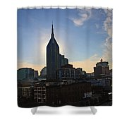 Nashville Skyline Shower Curtain