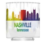Nashville Tn 1 Vertical Shower Curtain