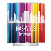 Nashville Tn 2 Vertical Shower Curtain