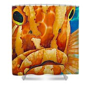 Nassau Grouper  Shower Curtain by Daniel Jean-Baptiste