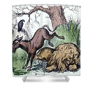 Nast: Democratic Donkey Shower Curtain