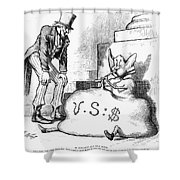 Nast: Inflation, 1873 Shower Curtain