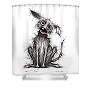 Nasty The Dog Shower Curtain
