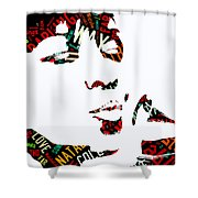 Natalie Cole Unforgettable Song Lyrics Shower Curtain