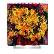 Natalie Holland Sunflowers Shower Curtain
